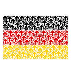 Germany flag mosaic of arrow direction icons vector