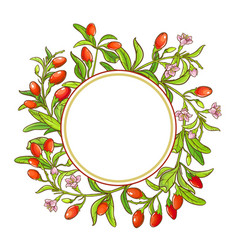 Goji branch frame vector