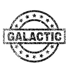 Grunge textured galactic stamp seal vector