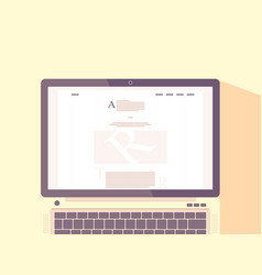 Laptop with internet blog on screen vector