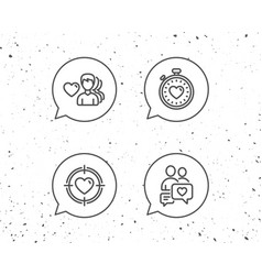 love timer couple communication and heart vector image