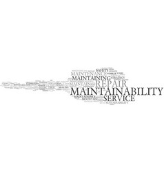 Maintainability word cloud concept vector