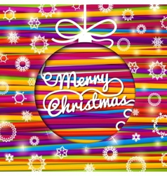 merry christmas greeting card made from bundle vector image