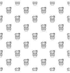 Needle heart cactus pattern seamless vector