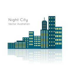 Night city vecor on white backgrpund vector