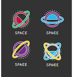 Outline globe icon Space logo Business concept vector image