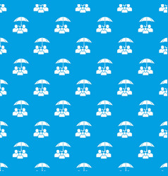 people protection pattern seamless blue vector image