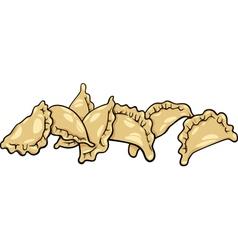pierogi or dumplings cartoon clip art vector image
