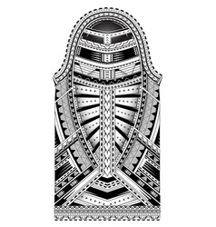 Polynesian style sleeve tattoo vector