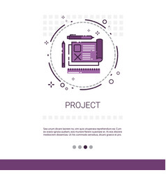 project development startup banner with copy space vector image
