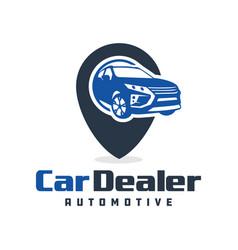 road sign car logo design vector image