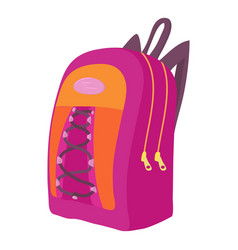 School backpack icon cartoon style vector
