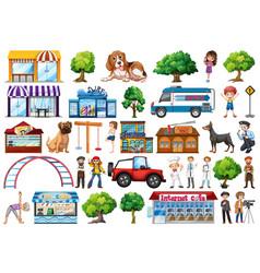 set city element vector image