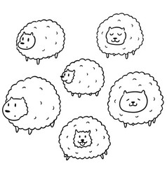 set of sheep vector image