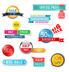 set sale design elements banners badges and vector image