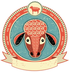 Sheep head label vector