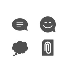 smile chat and comic message icons attachment vector image