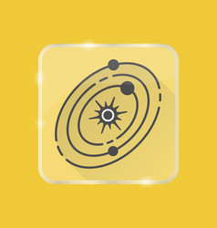solar system silhouette icon in flat style on vector image
