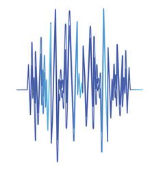 Sound banner color logo equalizer vector