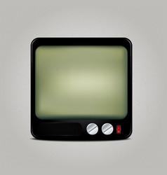Square retro TV icon vector image
