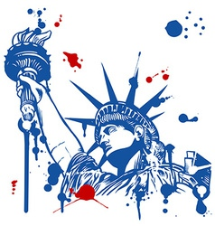 Statue of liberty with torch vector