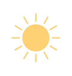 sun icon in flat style sunny weather icon isolated vector image
