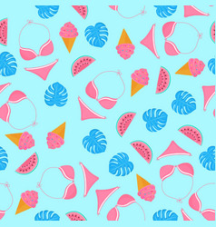 swimsuit watermelon ice-cream swimwear vector image