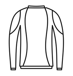 Thermo clothes icon outline style vector
