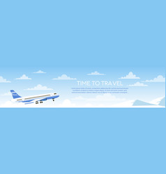 time to travel cartoon flat vector image