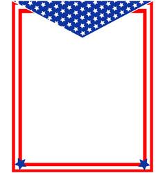 us flag decorative frame vector image