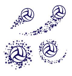 Volleyball star swirl vector