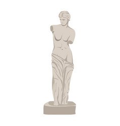 White female sculpture isolated on white vector