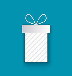 wrapped xmas present cut out icon isolated blue vector image