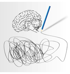 Abstract science background with brain vector image