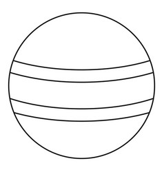 ball with stripes icon outline style vector image