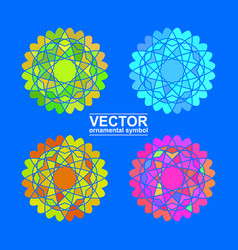 geometric logo template vector image