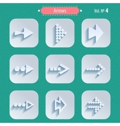 Set of Arrow Sign Icons vector image vector image