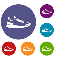 sneaker icons set vector image vector image