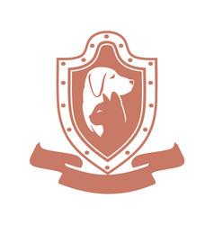 cat dog medal vector image