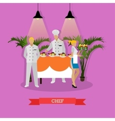 chef headwaiter and vector image