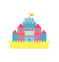 colorful princess castle cartoon vector image vector image