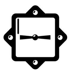 lock retro icon simple black style vector image