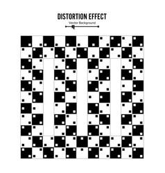 optical 3d art distortion vector image