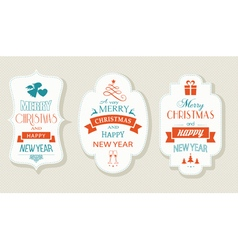 Set Christmas New Years labels vector image vector image