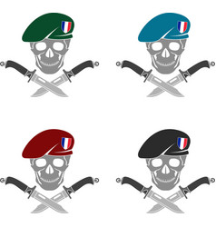 set of sign of special forces of france vector image