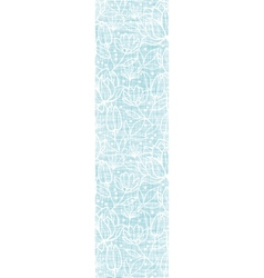 Blue lace flowers textile vertical border seamless vector image