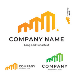 business building construction modern logo bright vector image vector image