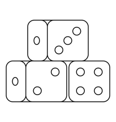 Dice cubes icon outline style vector image