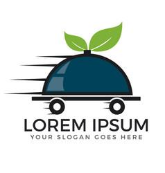 food delivery and online food logo design vector image