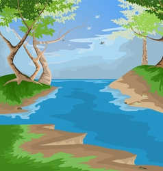 Forest scenic vector